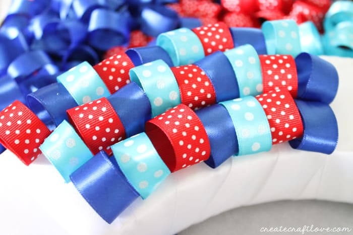 4th of july ribbon wreath 4