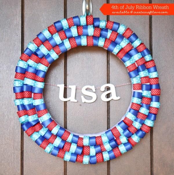 4th of july ribbon wreath fb