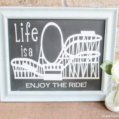 Rollercoaster Wall Decor #CricutSummer