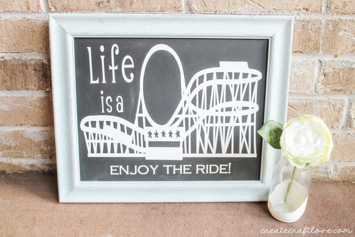 This Rollercoaster Wall Decor made for #CricutSummer is my inspiration to slow down and enjoy the ride!