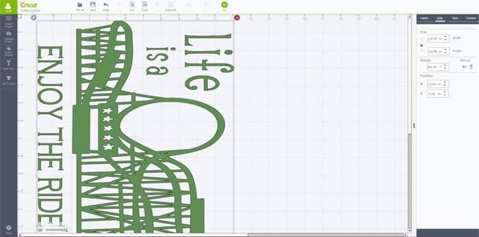 rollercoaster wall decor design