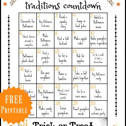 halloween traditions with outline