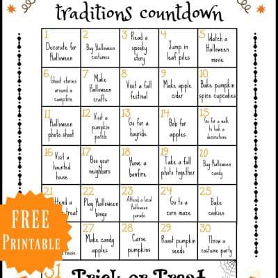 Halloween Traditions Printable
