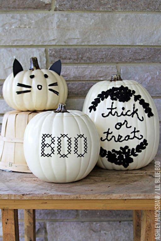hand sitiched pumpkins