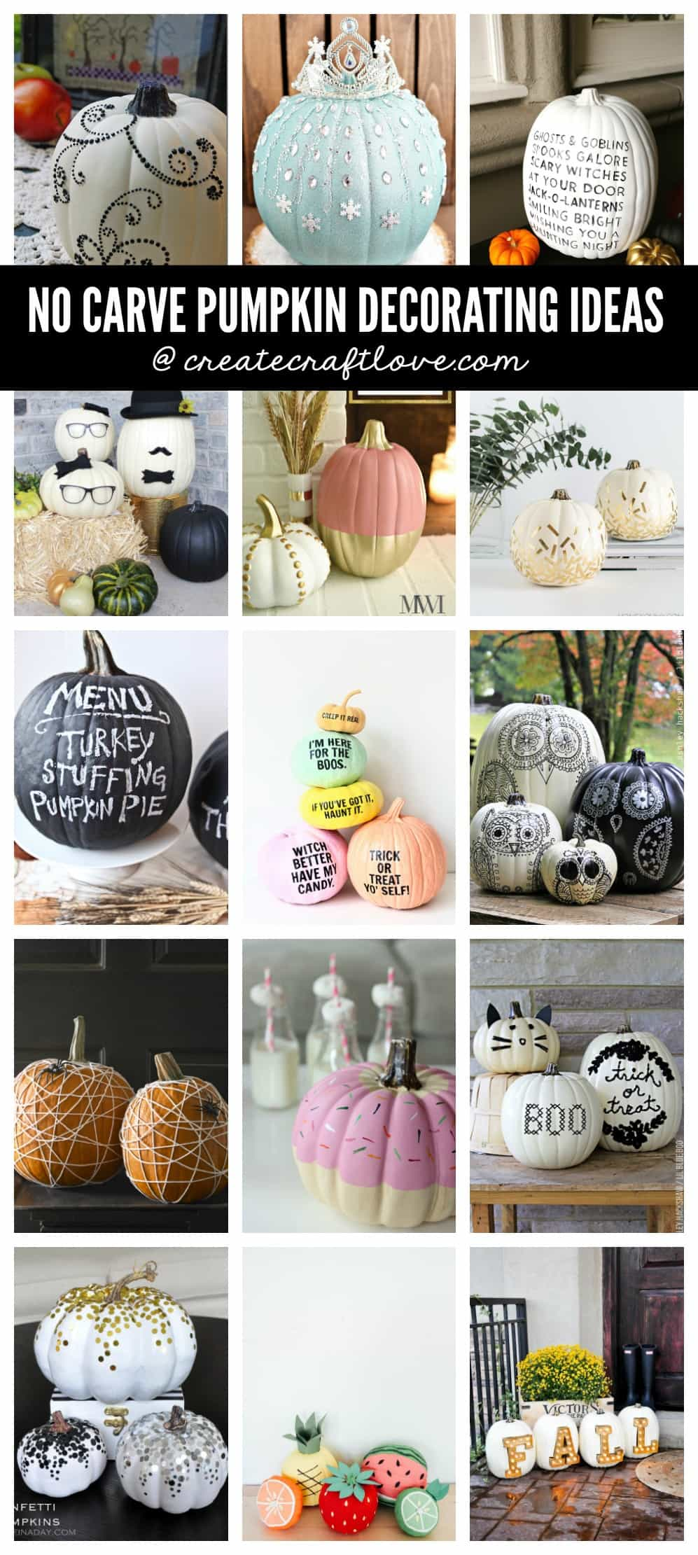 Here are some of the best No Carve Pumpkin Decorating Ideas around the blogosphere!