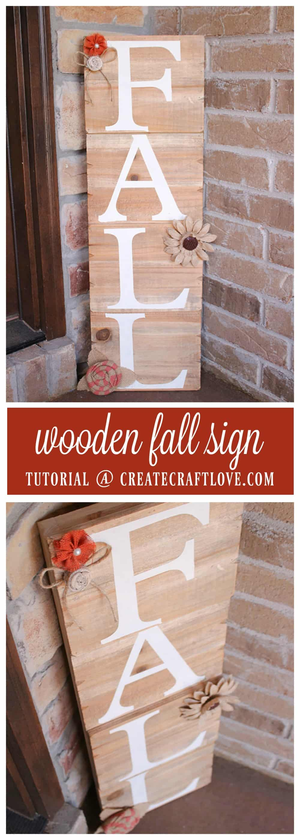 You can make this easy Wooden Fall Sign too with some stencils and paint!