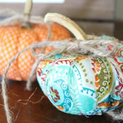 Mini Mod Podge Fabric Pumpkins