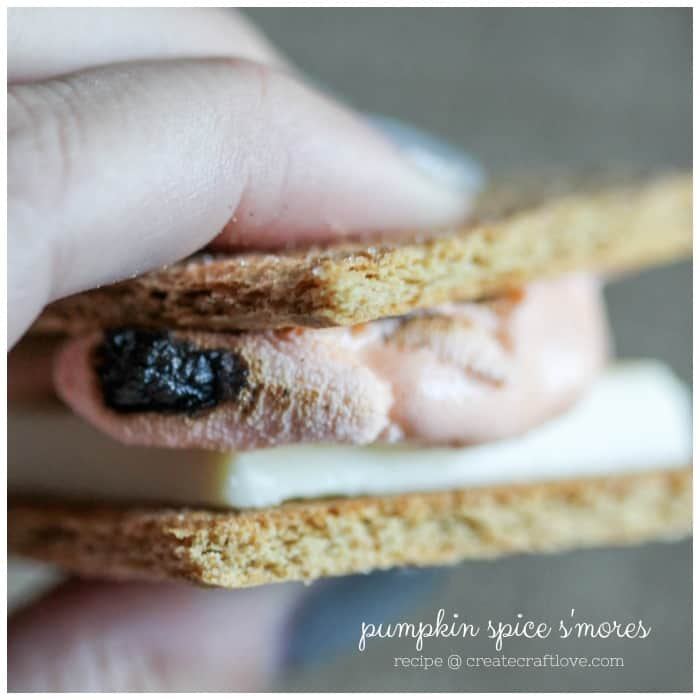 These Pumpkin Spice S'mores are perfect for chilly autumn evenings around the fire pit!