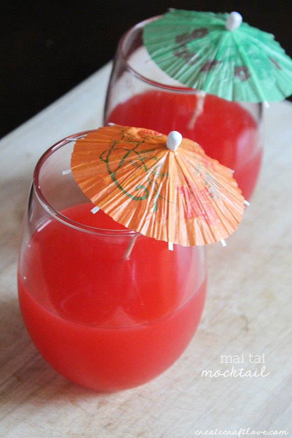 Pair this delicious Mai Tai Mocktail with dumplings and stir fry for an easy weeknight dinner! #sponsored #wokwednesday