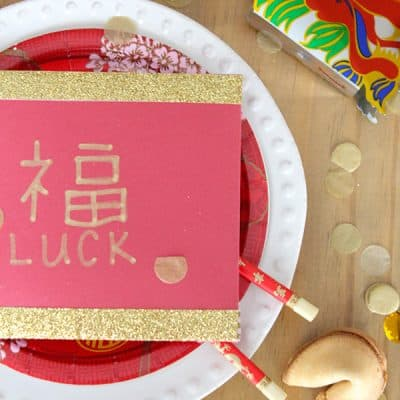 Celebrate the Chinese New Year with these DIY Red Envelopes, family, food,, and fun! #spon #wokwednesday