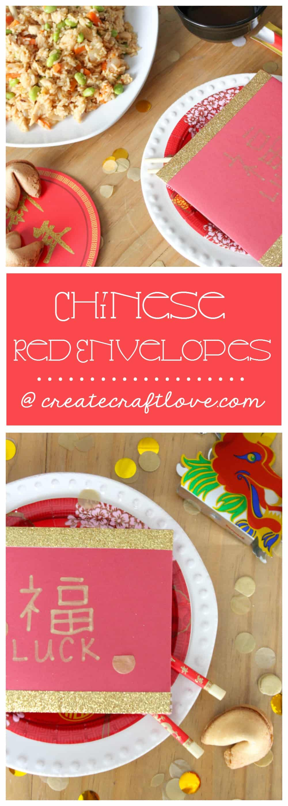 Celebrate the Chinese New Year with these DIY Red Envelopes, family, food, and fun! #spon #wokwednesday