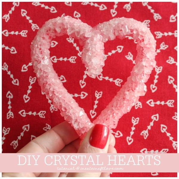 You can grow your own crystal hearts too by following these simple steps! via createcraftlovel.com