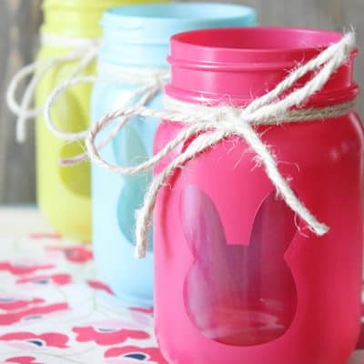 Bunny Luminary Jars