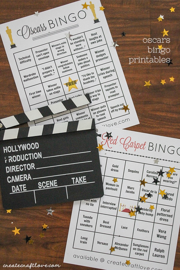 You can get involved in the magic of the movies by following along with our Oscars Bingo Printable!
