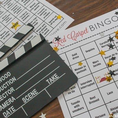 Oscars Bingo Printable