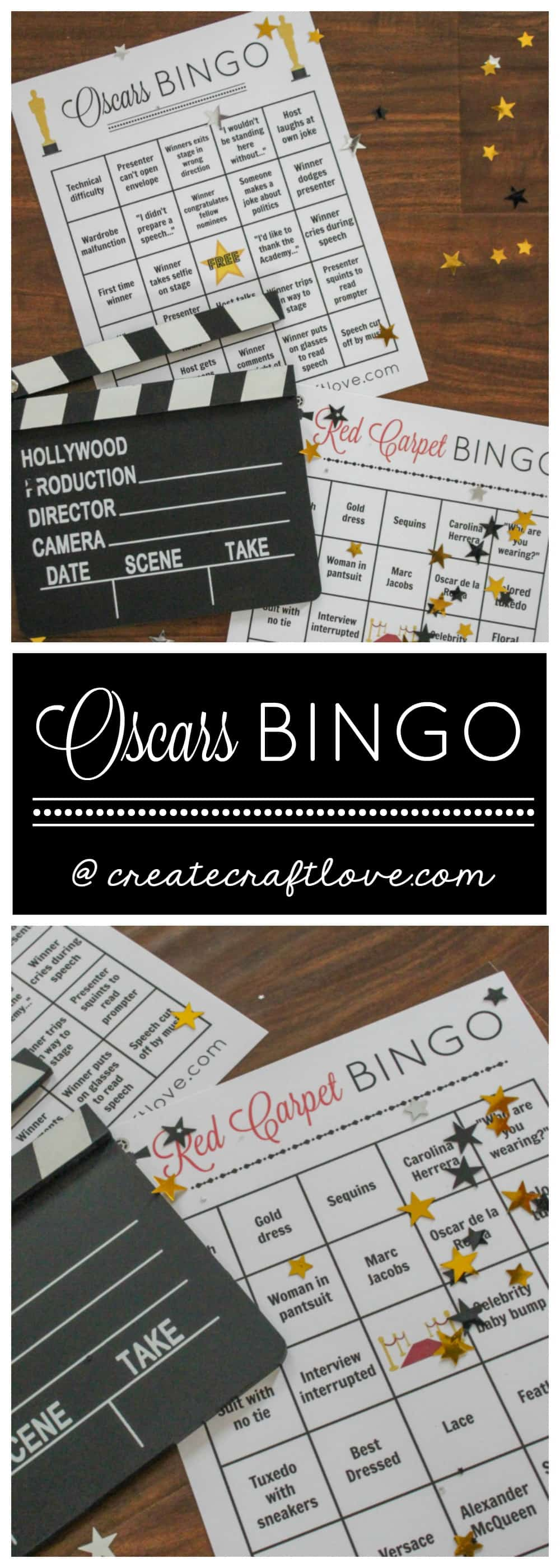 who doesn't love a good movie?! You can get involved in the magic of the movies by following along with our Oscars Bingo Printable! via createcraftlove.com
