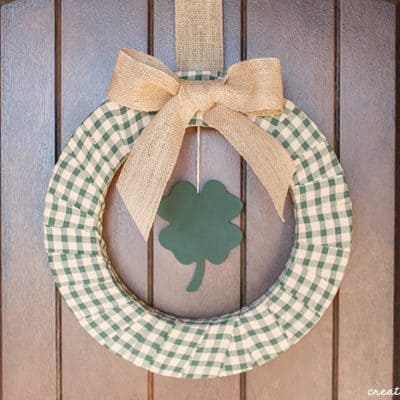 Plaid St Patricks Day Wreath