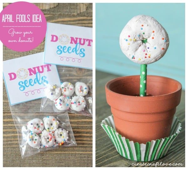How fun is this April Fools Idea?! Grow your own donuts!