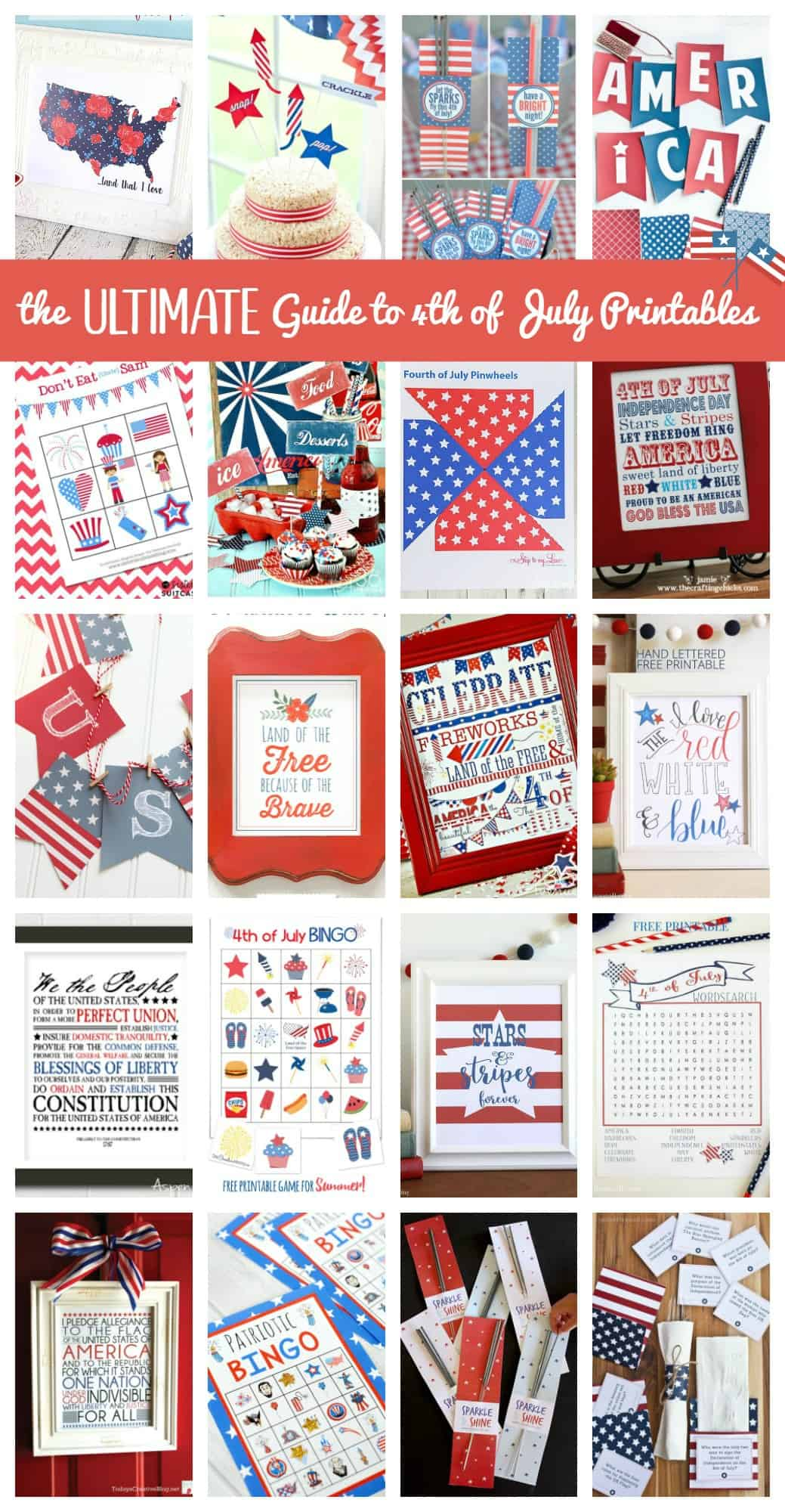 The ULTIMATE Guide to 4th of July Printablles