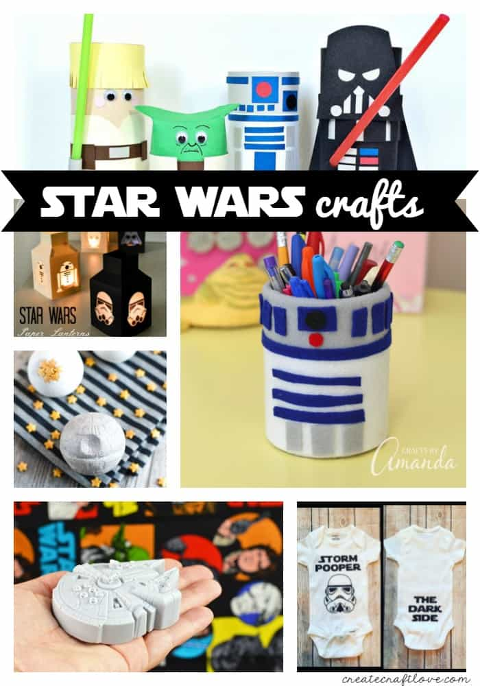Celebrate Star Wars Day with these Star Wars Crafts! May the Fourth Be With You! via createcraftlove.com