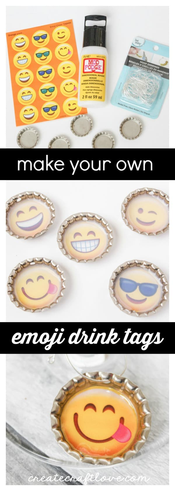 Make these Emoji Drink Tags for your next party!