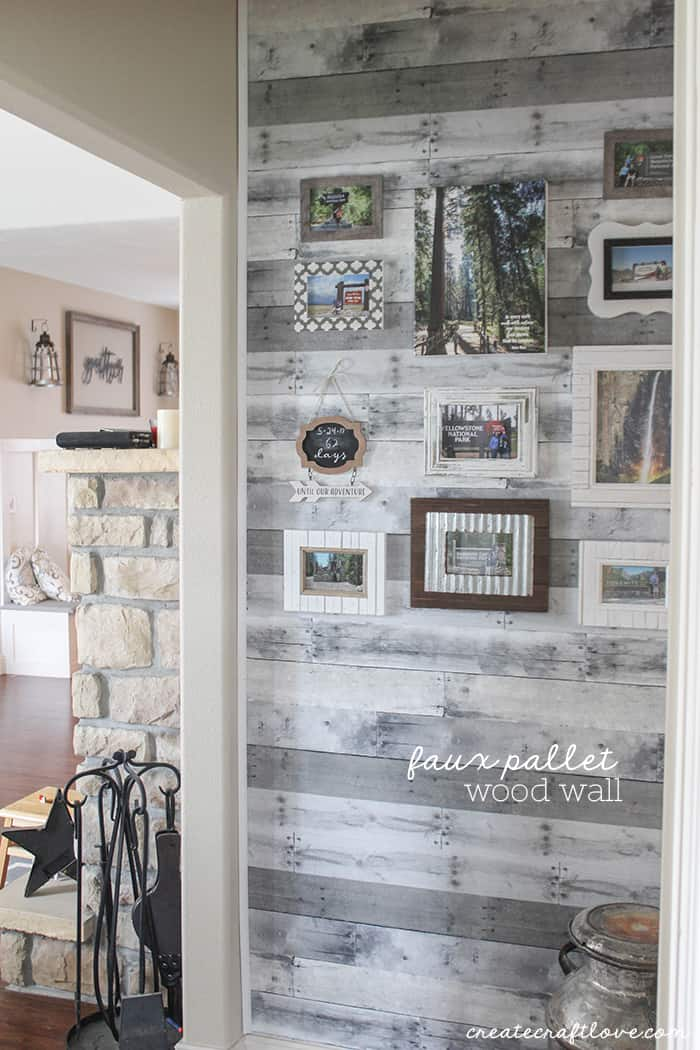 Faux Pallet Wood Wall Create Craft Love