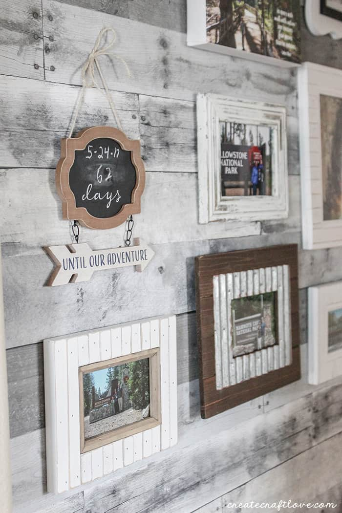 Faux Pallet Wood Wall - Create Craft Love
