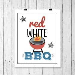Red, White and BBQ Printable