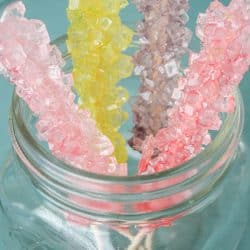 This Rock Candy Recipe is a fun science project for kids!