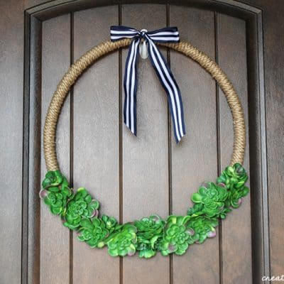 Succulent Hoop Wreath