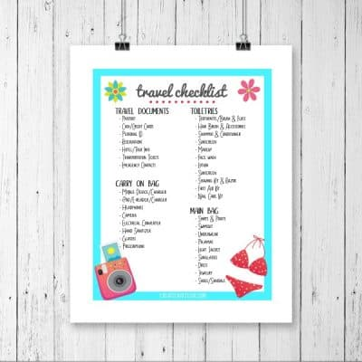 Travel Checklist Printable