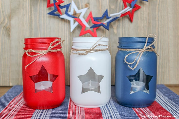 Patriotic Mason Jar Lanterns - Create Craft Love