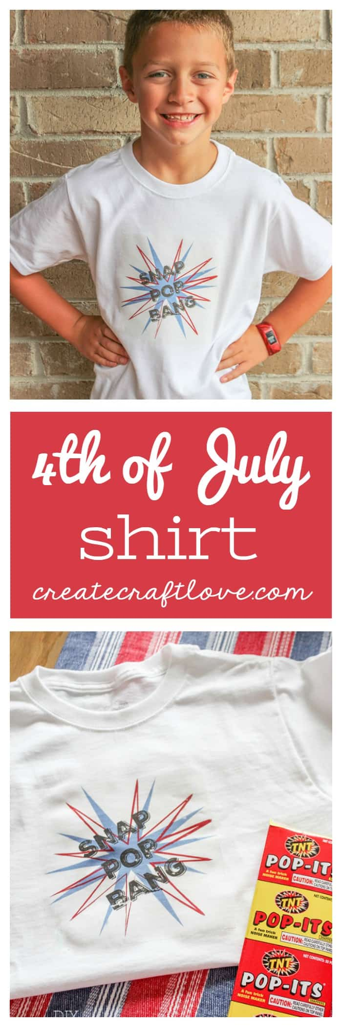 Learn how to upload your own images into Cricut Design Space to create an adorable 4th of July Shirt!