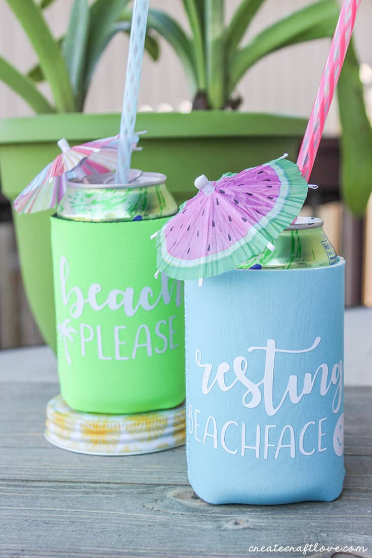 I love personalized can koozies!  Makes a great hostess gift!