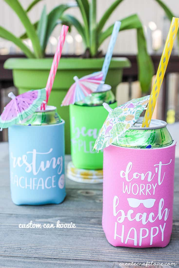 Make your own Cricut Custom Koozies with these simple tips!
