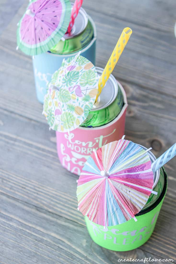 Create your own DIY personalized can koozies!