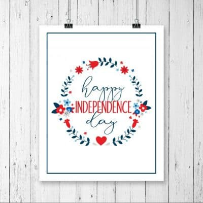Independence Day Free Printable
