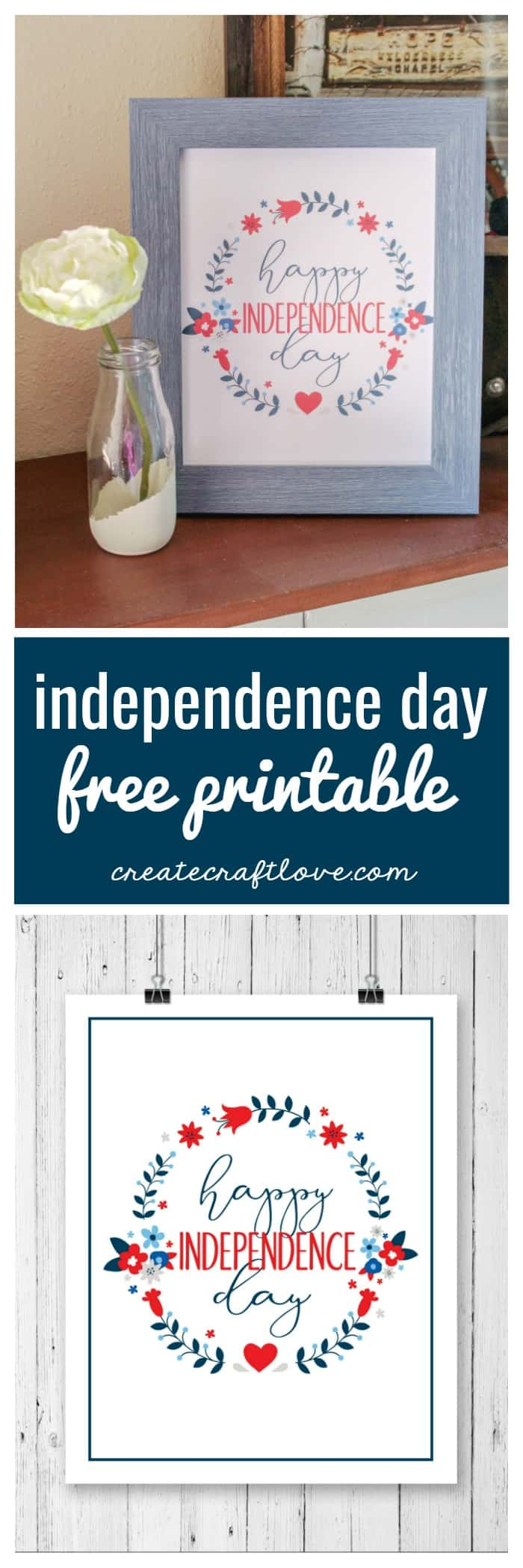Display this Independence Day Free Printable in your favorite frame!