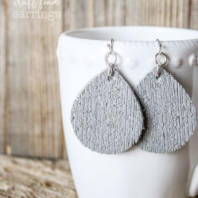 Cricut Craft Foam Earrings