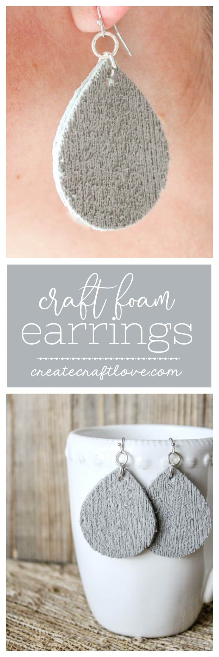 Create and customize your jewelry with these Cricut Craft Foam Earrings!