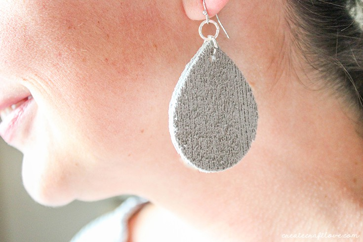 Wearing my fun craft foam earrings!