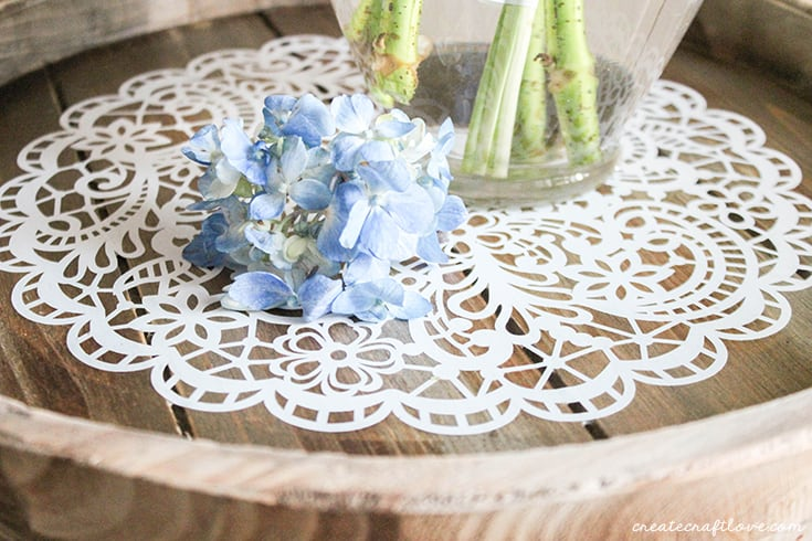 Use your decorative wooden tray to compliment your farmhouse decor!