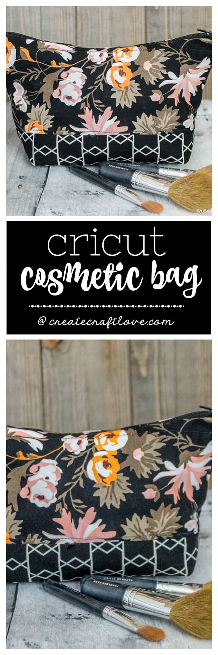 This Cricut Cosmetic Bag goes from cut to sewn in less than an hour!