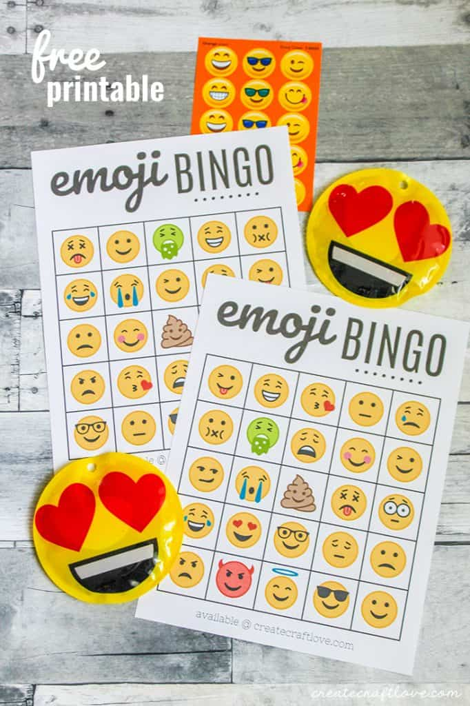 Grab your FREE Emoji Bingo Printable!!