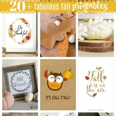 Welcome the season change with these 20+ Fabulous Fall Printables!