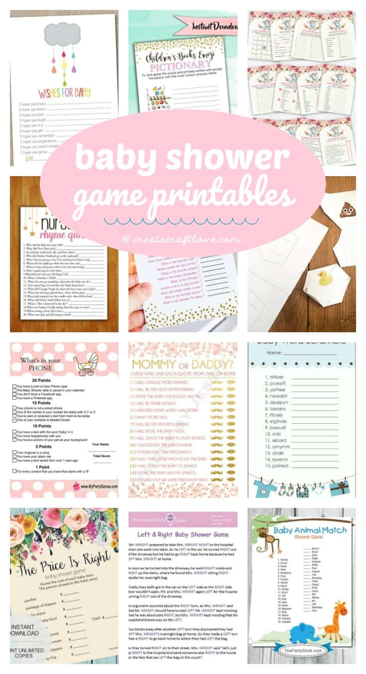These Baby Shower Game Printables are great for baby showers or sprinkles and are a great way to break the ice!