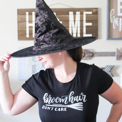 Creating your own Halloween Shirt has never been easier than with Cricut Easy Press!