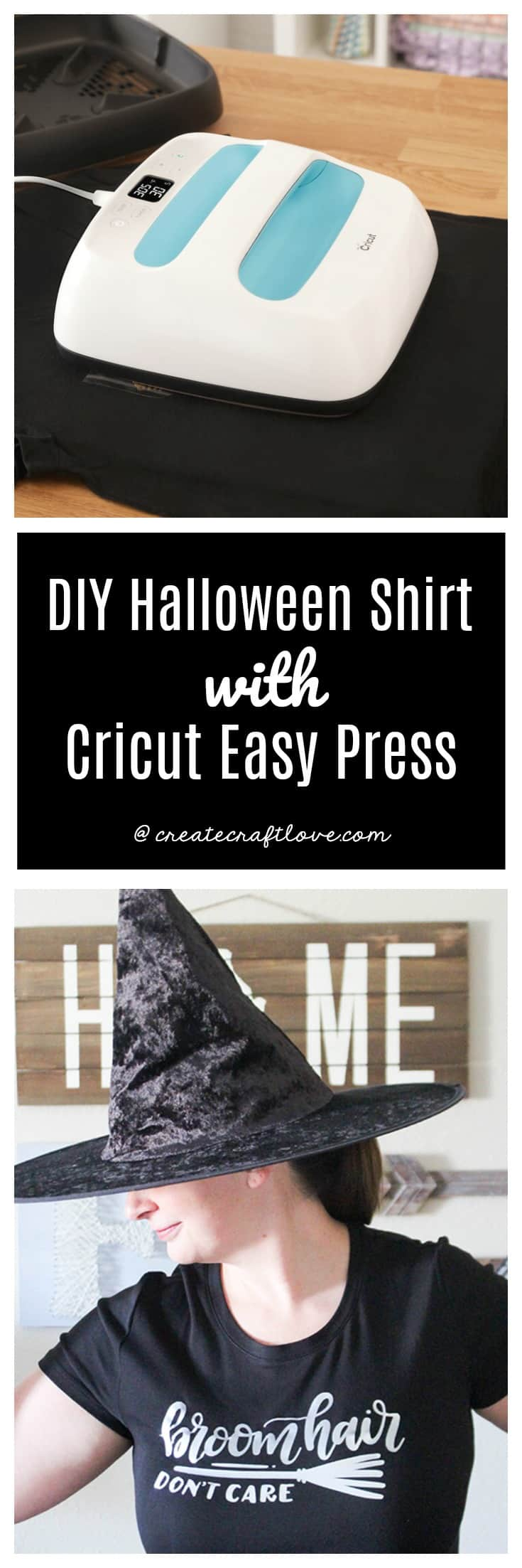 Creating your own Halloween Shirt has never been easier with Cricut Easy Press!