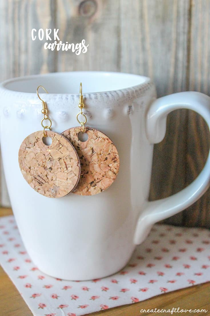 These gold flecked Cork Earrings are the perfect accessory for your favorite outfit!