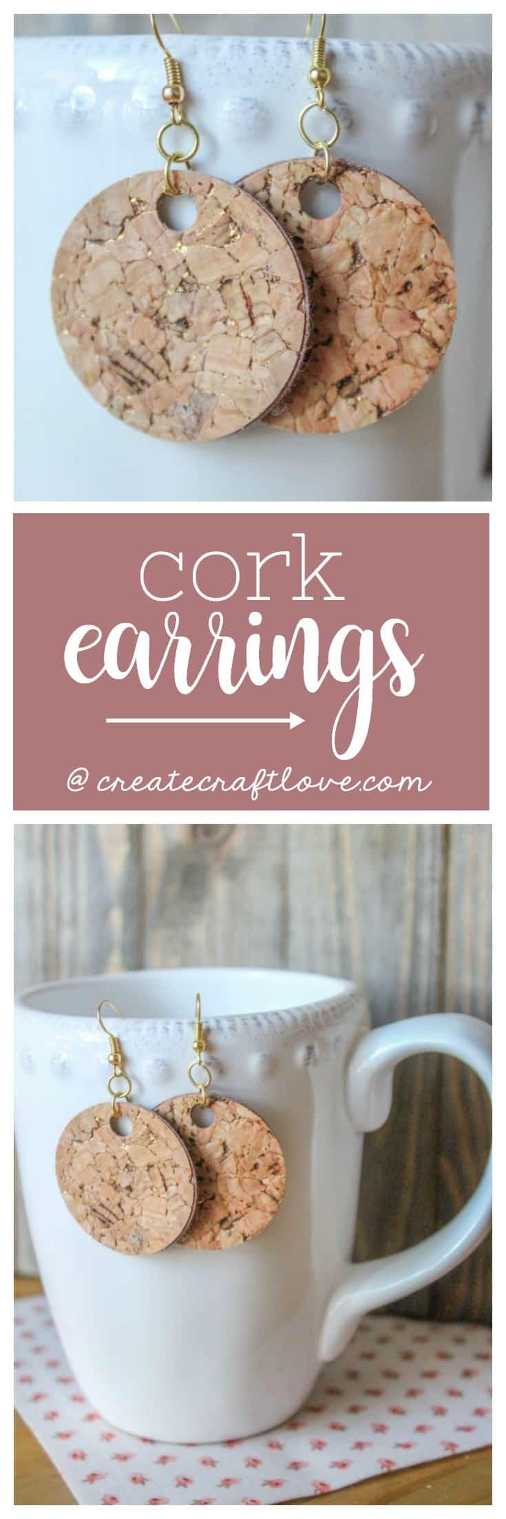 These gold flecked Cork Earrings are the perfect accessory to your favorite outfit!